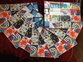 A3 Art sketchbooks with winners' pictures cover, £8